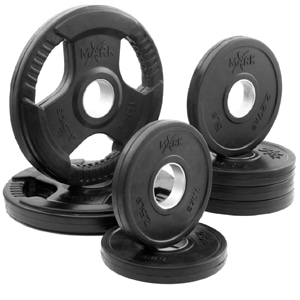 Rubbed Coated Set Olympic Plate Weight