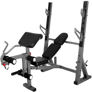 COMMERCIAL OLYMPIC WEIGHT BENCH WITH LEG AND PREACHER CURL XM-4424